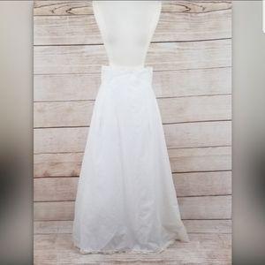 Merry Modes White Bridal Petticoar Crinoline Skirt